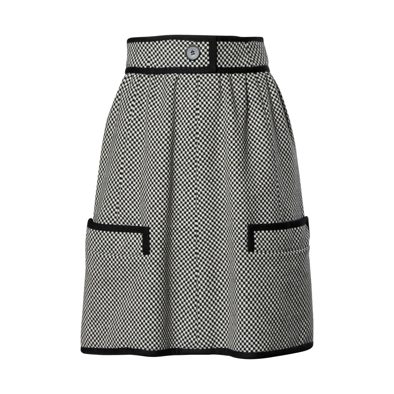 1960s Donald Brooks Vintage Black   White Checkered Skirt For Sale ...