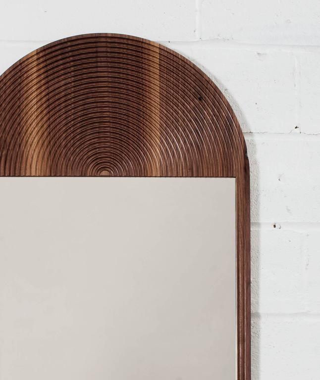 June Mirror by Coil + Drift in Walnut In Excellent Condition For Sale In new york, NY