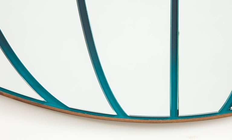 After discussing mutual interests and points of inspiration, ranging from midcentury to street art to the airbrushed hypercolors found in 1980s pop culture, Brooklyn studio Bower and actor Seth Rogen developed Atlas: a circular mirror comprising