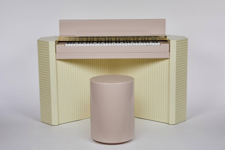 American Marzipan Pianette by Wall for Apricots and Jason Schwartzman, Piano in Maple For Sale