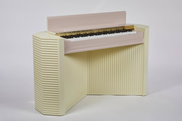 Modern Marzipan Pianette by Wall for Apricots and Jason Schwartzman, Piano in Maple For Sale