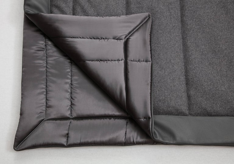American Three Quilt Collection Leather & Cashmere by Rafael De Cardenas & Mel Ottenberg For Sale