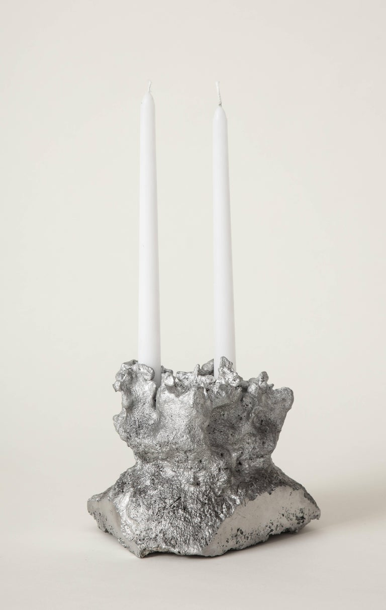 American Architecture of Song Heart-Shaped Face Candleholder the Principals & Angel Olsen For Sale