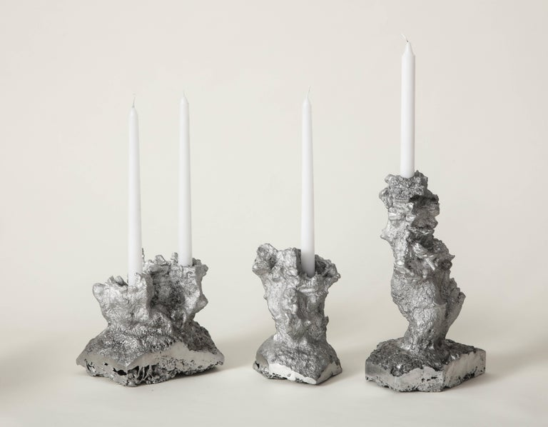 Aluminum Architecture of Song Heart-Shaped Face Candleholder the Principals & Angel Olsen For Sale