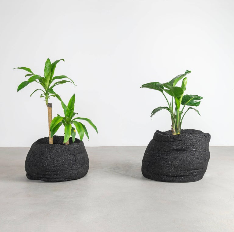 Coal Planters by Fernando Mastrangelo and Boyd Holbrook, Low In New Condition For Sale In New York, NY