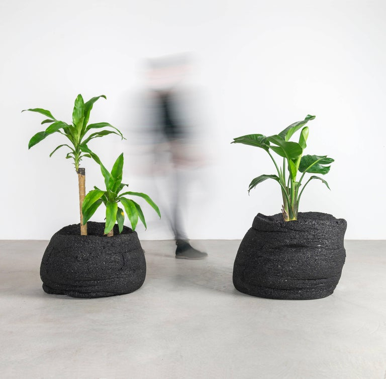 Contemporary Coal Planters by Fernando Mastrangelo and Boyd Holbrook, Low For Sale