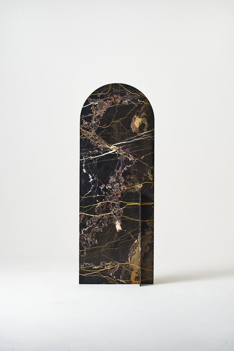 Autem Stand Alone Mirror Marble & Mirrored Glass Contemporary Full Length Mirror In New Condition For Sale In New York, NY