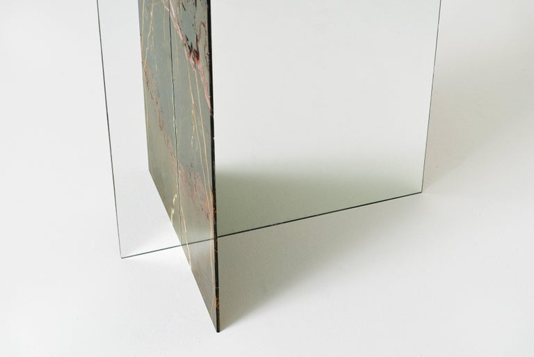 Autem Stand Alone Mirror Marble & Mirrored Glass Contemporary Full Length Mirror For Sale 1