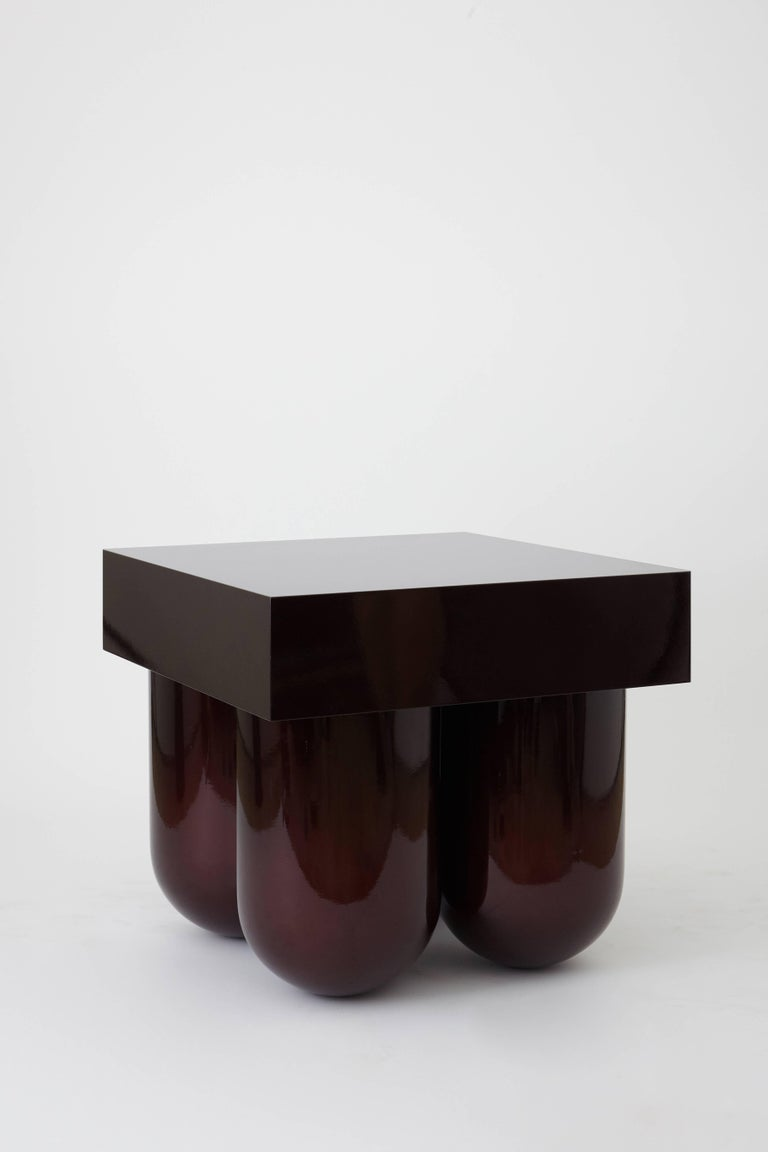 American Set No.5 Cocktail Table by Müsing–Sellés in Carved Wood Metallic Lacquer For Sale