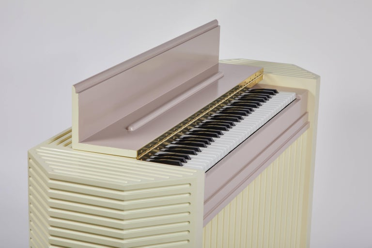 Marzipan Pianette by Wall for Apricots and Jason Schwartzman, Piano in Maple For Sale 3