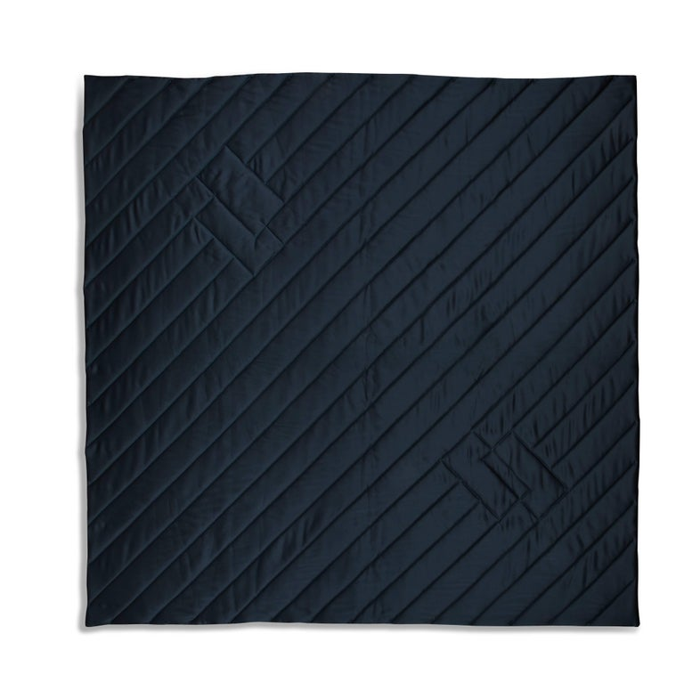 Three Quilt Collection Leather and Wool by Rafael De Cardenas & Mel Ottenberg  For Sale 1