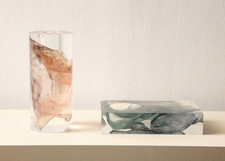 SAP Ikebana Vase No.01 by Ladies & Gentlemen Studio & Kaarem in Blue Silk For Sale 1