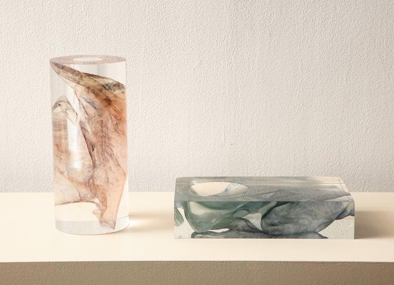 SAP Ikebana Vase No.01 by Ladies & Gentlemen Studio & Kaarem in Blue Silk For Sale 3