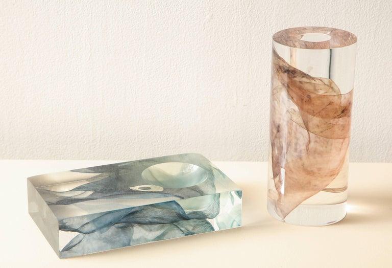 SAP Ikebana Vase No.01 by Ladies & Gentlemen Studio & Kaarem in Blue Silk For Sale 4