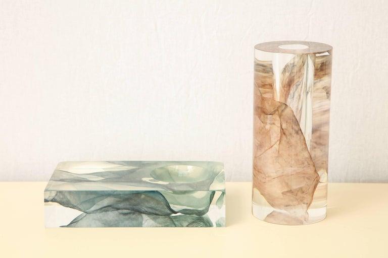 SAP Ikebana Vase No.01 by Ladies & Gentlemen Studio & Kaarem in Blue Silk For Sale 5