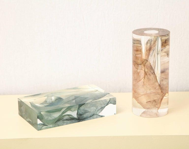 SAP Ikebana Vase No.01 by Ladies & Gentlemen Studio & Kaarem in Blue Silk For Sale 6