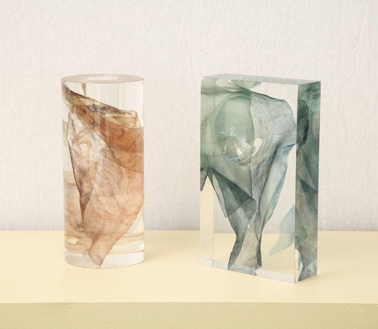 SAP Ikebana Vase No.01 by Ladies & Gentlemen Studio & Kaarem in Blue Silk For Sale 7