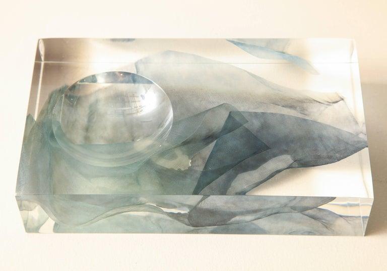 Modern SAP Ikebana Vase No.01 by Ladies & Gentlemen Studio & Kaarem in Blue Silk For Sale