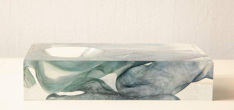 SAP Ikebana Vase No.01 by Ladies & Gentlemen Studio & Kaarem in Blue Silk In New Condition For Sale In New York, NY