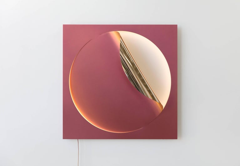 Oracle Sconce by Christopher Stuart & Julia Dault in Mirror Polished Bronze For Sale 1
