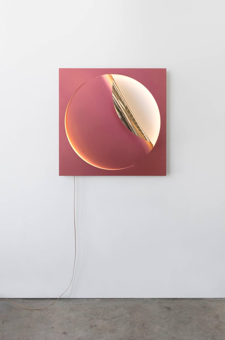 Contemporary Oracle Sconce by Christopher Stuart & Julia Dault in Mirror Polished Bronze For Sale