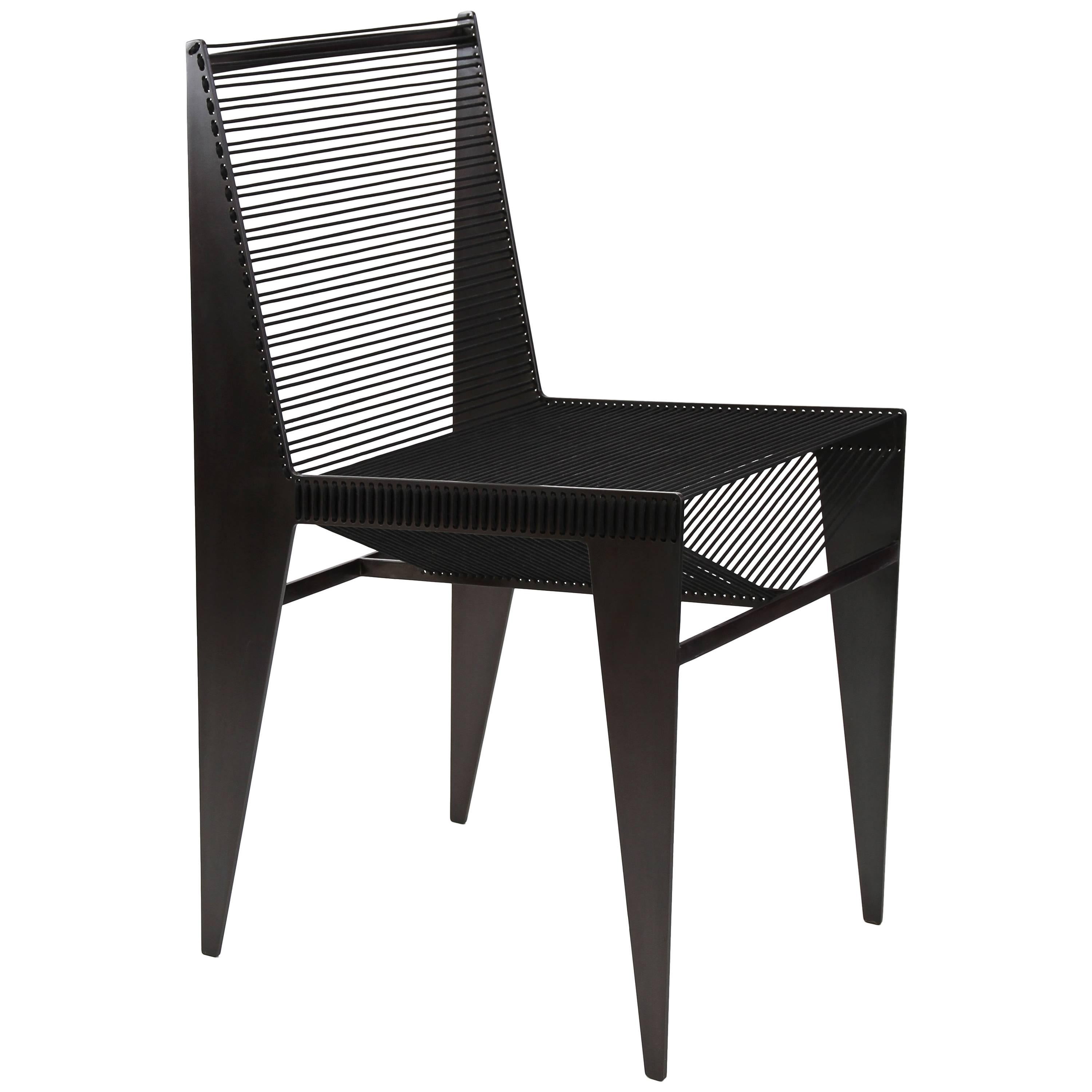 ICON Chair in powder coated solid steel and rope by Christopher Kreiling Studio