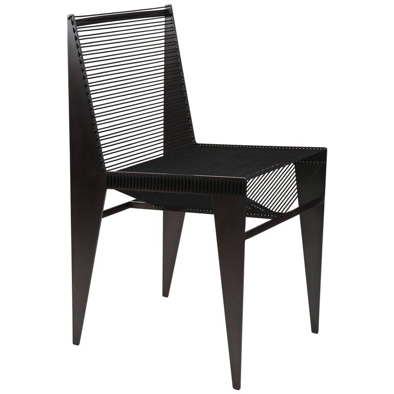 Icon Chair in Steel and Rope by Christopher Kreiling, Contemporary