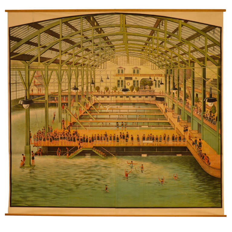 Original Sutro Baths 19th Century Lithograph at 1stdibs