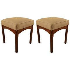 Pair of Modernist Stools, Ottomans