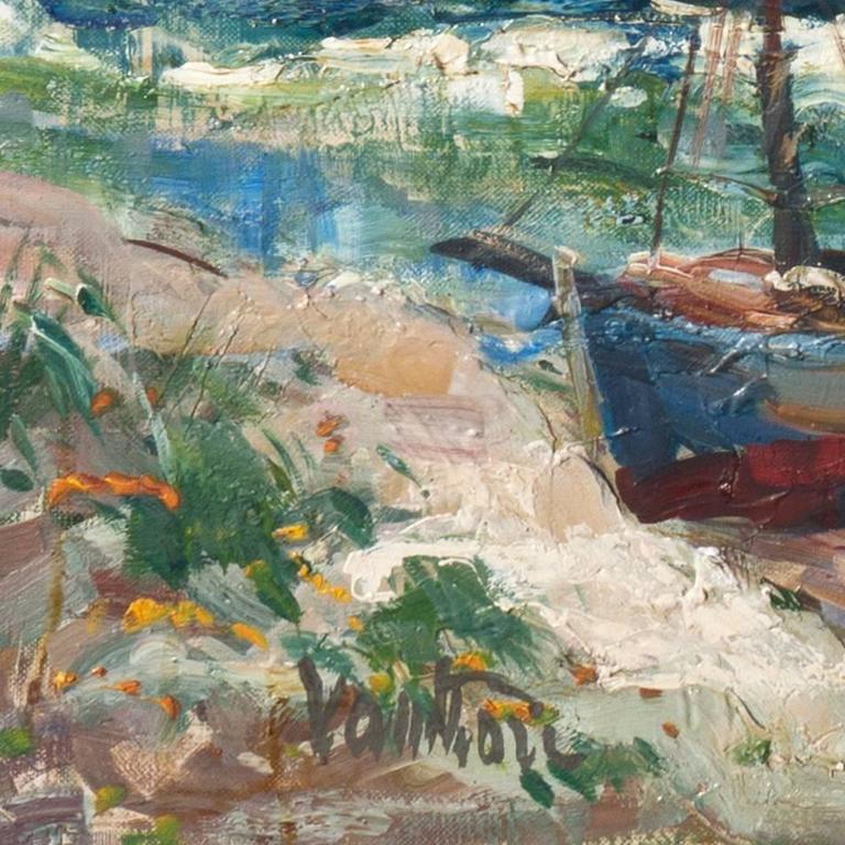 'After the Storm', Charlottenborg Museum, Paris, Danish Post-Impressionist Oil - Gray Landscape Painting by Mogens Erik Christien Vantore