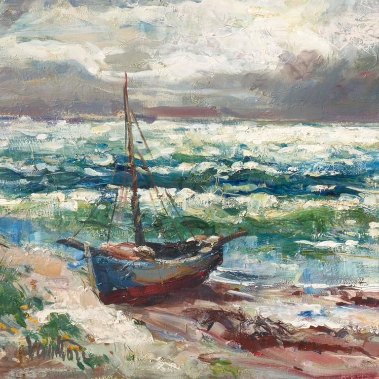 'After the Storm', Charlottenborg Museum, Paris, Danish Post-Impressionist Oil - Painting by Mogens Erik Christien Vantore