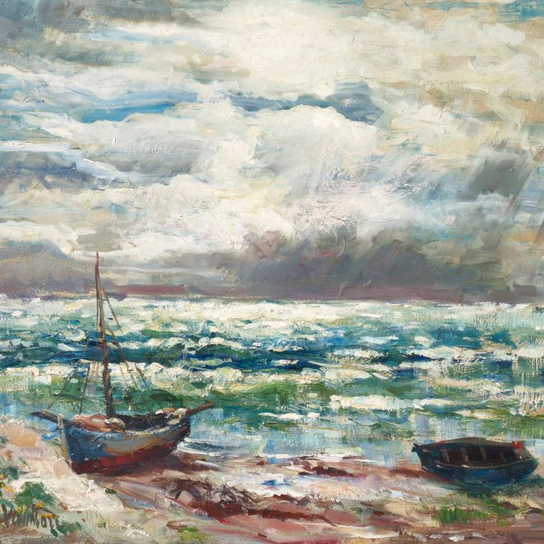 'After the Storm', Charlottenborg Museum, Paris, Danish Post-Impressionist Oil For Sale 2