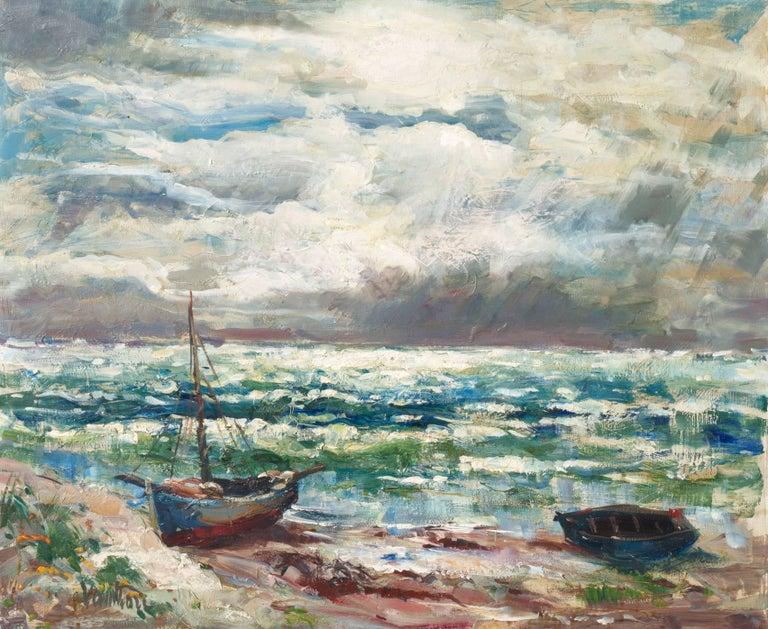 Mogens Erik Christien Vantore Landscape Painting - 'After the Storm', Charlottenborg Museum, Paris, Danish Post-Impressionist Oil