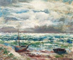 After the Storm   (Post-Impressionism, Danish, Coastal, Landscape, Blue, Green)