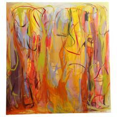 "Contemporary Painting ""Atardecer Soñando"" by Gabriela Tolomei"