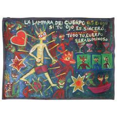 """Contemporary Painting """"La Lampara del Cuerpo""""  by Julie Hermoso"""