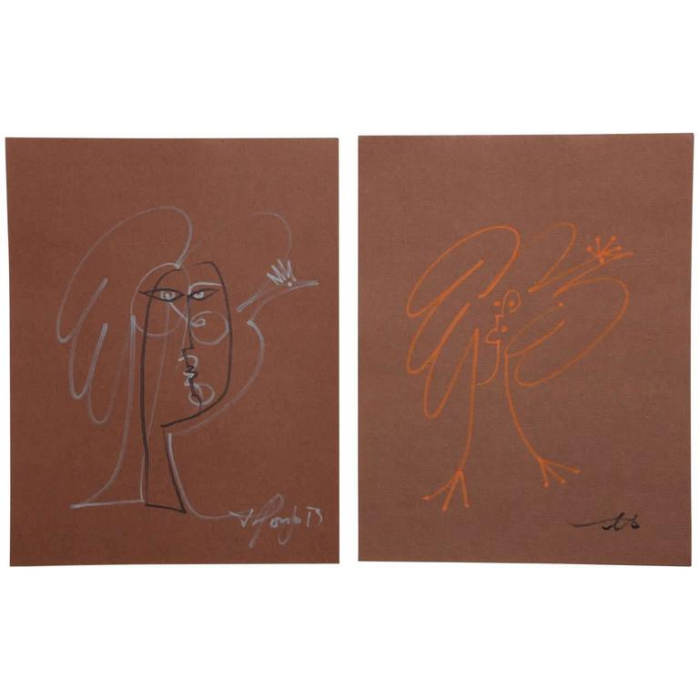 """""""Fire Rooster"""" Contemporary Brown Collection. Art Pieces by Alfonzo Muñoz"""