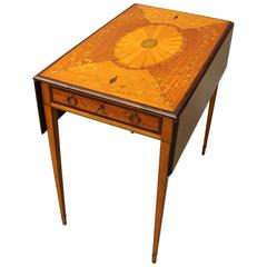 Adams Style Rosewood and Mahogany Marquetry Pembroke Table, circa 1900