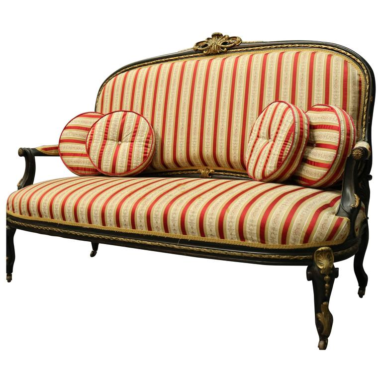 Antique french sofa antique french sofa in belgian linen for Settees and sofas