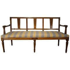 Antique Italian Lombardy Settee Couch, Louis XVI, circa 1860