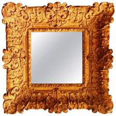 Fabulous Louis XIV Period Frame Mounted as Mirror, France, Early 18th Century