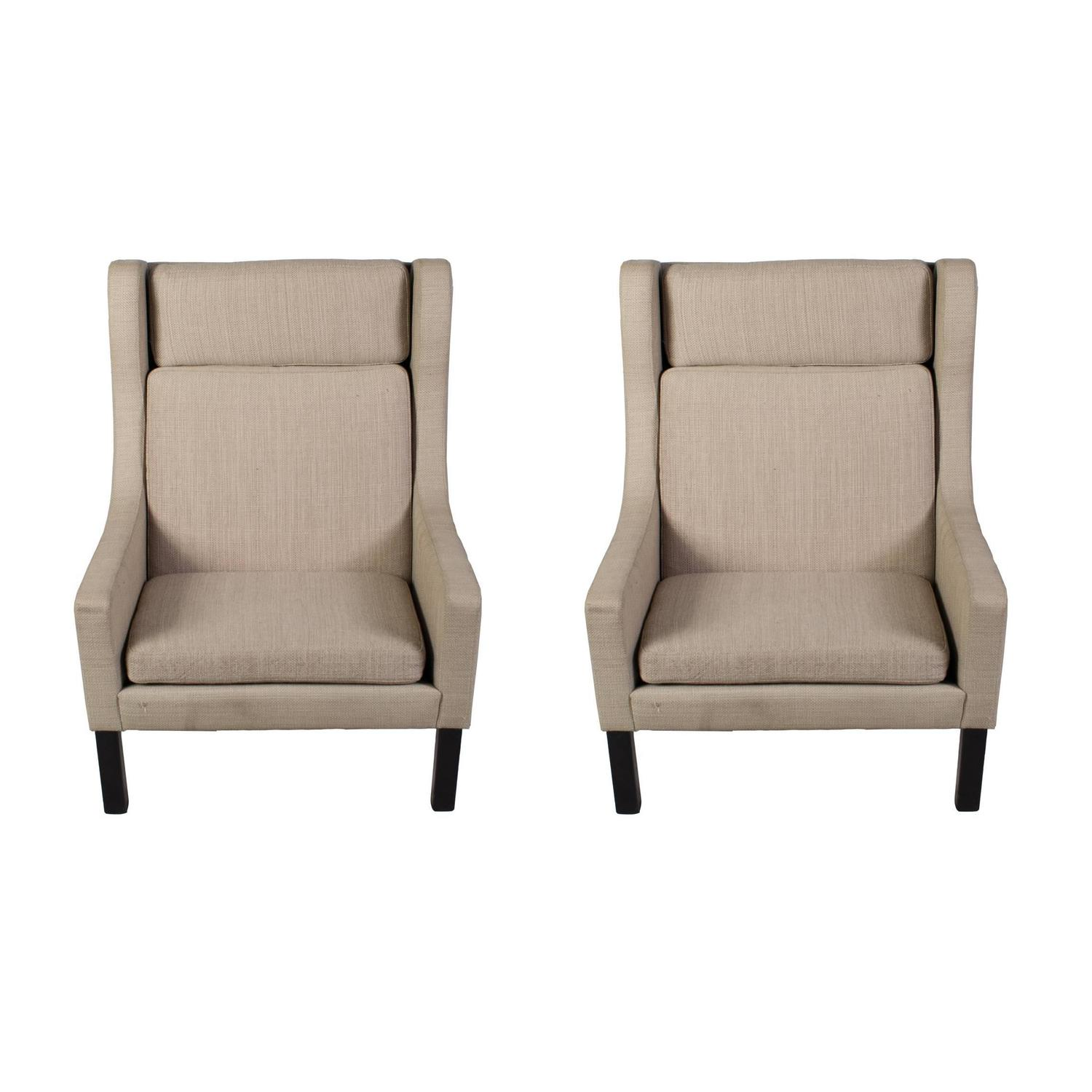 Very Modern Looking Pair Of Wing Chairs For Sale At 1stdibs