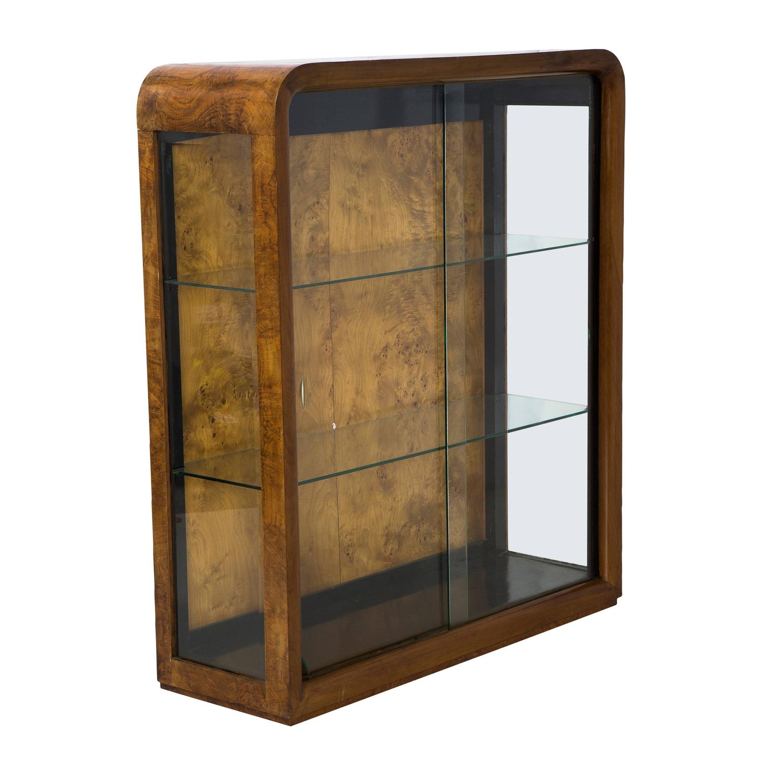 art deco lit display case cabinet at 1stdibs. Black Bedroom Furniture Sets. Home Design Ideas