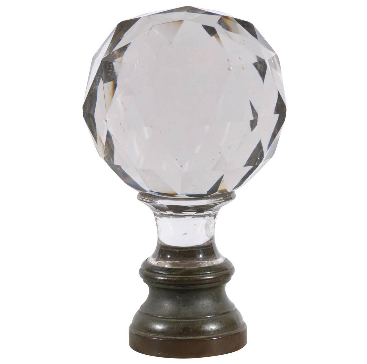Napoleon Crystal Bannister Finial From France At 1stdibs