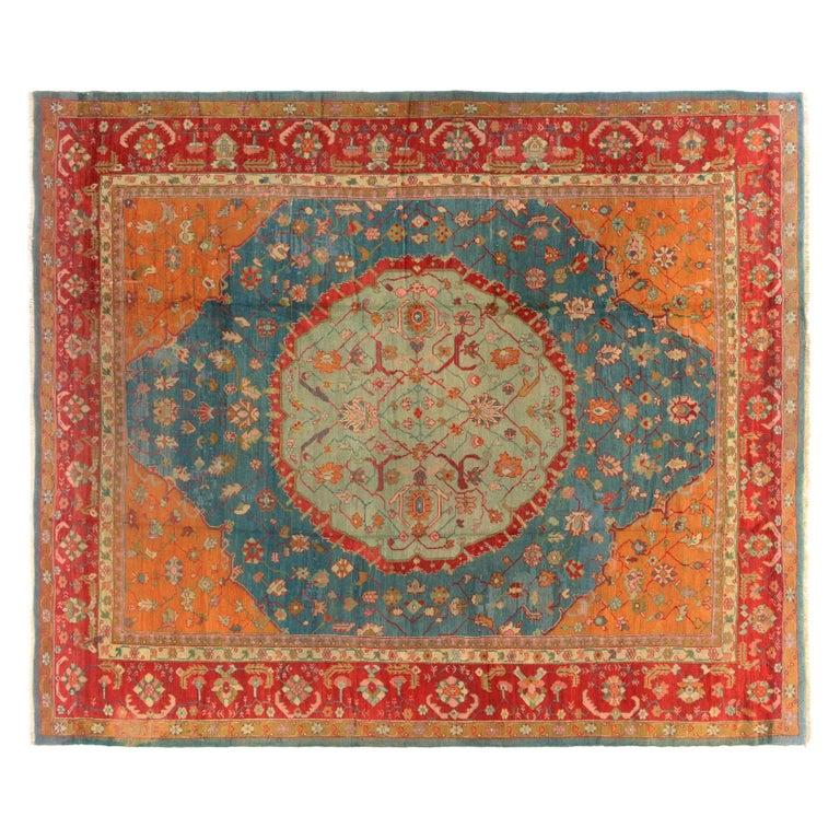 Antique Turkish Oushak Rug, circa 1880 For Sale