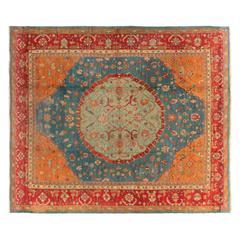 Antique Turkish Oushak Rug, circa 1880