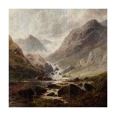 18th Century Painting of the Scottish Highlands
