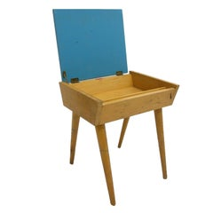Carriage Trade Modern Midcentury Birch Sewing or Storage Box, End Table