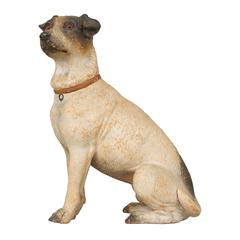 Ceramic Sculpture of a Terrier