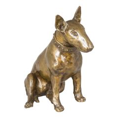 Bronze Bull Terrier Sculpture